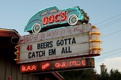 Doc's Bar and Grill (dangr.dave) Tags: austin tx texas traviscounty downtown historic architecture hipster docs bar grill beer southcongress soco neon neonsign