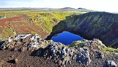 Kerid Volcano (AntyDiluvian) Tags: iceland reykjavik tour goldencircle volcano crater caldera volcanicrock lake geothermal kerid keri