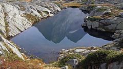 Pond with Lobbie mountains in reflection (Adamello Presanella Alps) (ab.130722jvkz) Tags: italy alps easternalps rhaetianalps adamellopresanellaalps trentino mountains