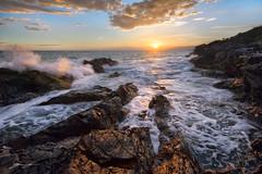 Capo Pino Sunset (Emone Giovanni) Tags: sunset tramonto liguria italia sky cielo mare sea seascape landscape nikon d7100 photography