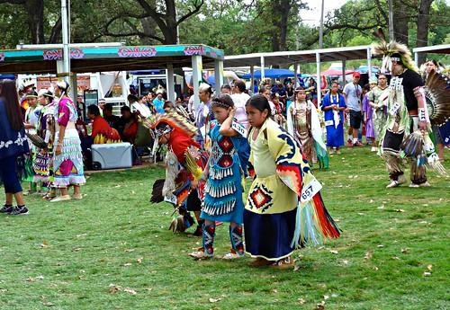 Dancers at Omaha (Umoⁿhoⁿ) tribe's Powwow, Macy, NE
