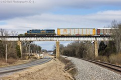 CSX X212-07 at Wildwood, GA (KD Rail Photography) Tags: csx howtomorrowmoves qualityinmotion trains railroads transportation vehicletrain ge generalelectric gevo georgia es44ah bridge highway winterweather winterseason diesellocomotive diesel locomotive cloudydays