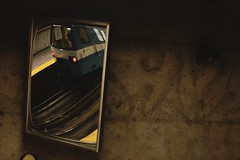 Mtro de Montral (Paul B. (Halifax)) Tags: montreal mtrodemontral subway stm reflection concrete urbanabstract nikon d7000 nikkor35mm18g underground socitdetransportdemontral lookingup