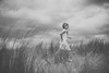 The Beach (Do You Realise?) Tags: beach blackandwhite girl wind outdoor moody sky dramatic childhood water pretty