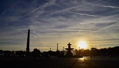 Paris_Concorde (stefou21) Tags: paris ville place fontaine oblisque concorde tour eiffel soleil soir foule voitures bleu jaune eau tamron 18200 nikon d7000 explored