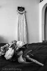 Flowers and lace (judethedude73) Tags: flower bouquet wedding dress marraige bride blackandwhite blackwhite photography dof