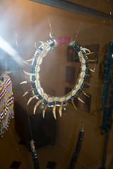 Aboriginal Sarawak boar's tooth necklace (quinet) Tags: 2015 aborigène borneo collier halskette iban kuching kuchingtextilemuseum malaysia perlen sarawak ureinwohner aboriginal beads native necklace perles