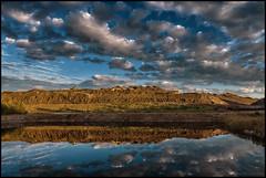Askberget (Jonas Thomn) Tags: flygaska flyash ash aska pool basng water vatten spegling reflection moln clouds digger grvmaskin