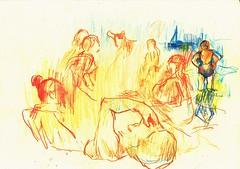 PROYECTO 132-60 (GARGABLE) Tags: angelbeltrn apuntes sketch lpicesdecolores drawings proyecto 132 64 todo varios variado dibujos gargable playa gente siesta sanjuan