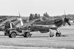 Hawker Hurricane XII P3700 RF-E (G-HURI) (Perfect Moment Images) Tags: hawker hurricane mk xii i p3700 ghuri rfe 303 polish squadron sqn raf royal air force duxford cambridgeshire airfield runway willys jeep willies fury world war two 2 ii battle of britain fighter meet the fighters canon 6d 400mm f56 ady adrian williams perfect moment images imperial museum