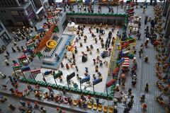 Rockfeller Plaza version Lego (Le 7ème blog) Tags: newyork buildings lego manhattan ville maquette urbanisme métropole rockfellerplaza reconstitution