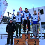 Martin Grasic 3rd in Aspirante category (95/96) in Italian FIS Giant Slalom, Jan 2013 PHOTO CREDIT: JP Daigneault