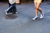 Blue Converse (McLovin 2.0) Tags: street city blue urban walking grate shoes crossing legs walk streetphotography melbourne sneakers converse streetphoto chucks allstars sonyrx100