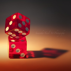 Die Trying! --> (Samantha Nicol Art Photography) Tags: red dice game macro reflections square die board torch spots samantha nicol