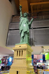 """NYC - Times Square: Toys """"R"""" Us - LEGO Statue of Liberty (wallyg) Tags: nyc ny lego manhattan midtown timessquare gothamist statueofliberty toysrus toystore"""