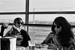 SF Days (codemoji) Tags: sf sanfrancisco city friends blackandwhite bw film water 35mm photography beers monochromatic embarcadero minoltasrt201 kodaktrix400 shootfilm