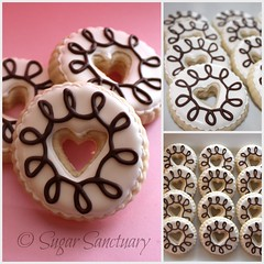 Simple & Sweet (Sugar Sanctuary (Beka)) Tags: birthday party cookies hearts cookie heart donut valentines favor valentinesday lalaloopsydoll