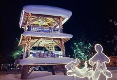 Night park (threepinner) Tags: winter light snow mamiya japan night hokkaido kodak centralpark 55mm   positive f28  hokkaidou 1000s mikasa selfdeveloped   northernjapan sekor  m645