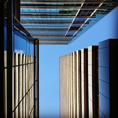 #lookingup #architecture #building #linear #sky #blue #brisbane #australia (Raul Wong Roa) Tags: square squareformat hefe iphoneography instagramapp uploaded:by=instagram foursquare:venue=4b063813f964a520d1e922e3