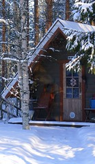 The wintry hut (EilaK: Visit my nice galleries too!) Tags: winter snow hut