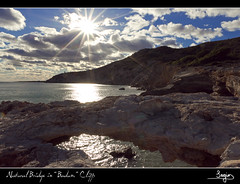 Natural Bridge in Badum Cliffs (SVA1969) Tags: sea sun sol sergio clouds mar rocks mediterranean cliffs nubes sonne roca mediterrneo peiscola acantilados peniscola badum abadum creativephotocafe sergiovicent