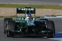 F1 Testing Jerez Day 2 (CaterhamF1) Tags: spain action wed f1 testing feb 13 esp tests jerez t01 ct03 ontrack giedovandergarde charlespic