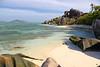 DSC_2286b La Digue, Seychelles: Anse Source d'Argent (wanderlust  traveler) Tags: ocean africa blue sea panorama nature landscape island rocks paradise palmtree tropical seychelles ladigue torquoise