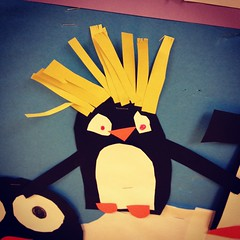 Macaroni Penguin (courtneyureel) Tags: school winter chicago writing reading penguin january teaching primary macaronipenguin 2013 uploaded:by=flickrmobile flickriosapp:filter=nofilter