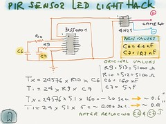 PIR Sensor Led Light Hack - Schematic (Majet) Tags: camera light motion philips led infrared passive trigger sensor detection pir infrarosso pyroelectric passivo uploaded:by=flickrmobile flickriosapp:filter=nofilter spoton69101