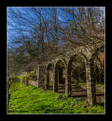 derelict garden building at Newark Park (NT) (Travels with a dog and a Camera :)) Tags: park uk england building art abandoned digital photoshop dc pentax unitedkingdom nt ruin sigma cotswolds gloucestershire national trust newark 1020mm nationaltrust derelict febuary 43 k5 lightroom cs6 2013 1456 wottonunderedge ozleworth newarkpark justpentax sigma1020mm1456dc pentaxart pentaxk5 photoshopcs6 lightroom43