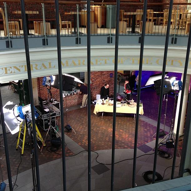 Food segment set up. #todayinboston @Todayshow in Boston