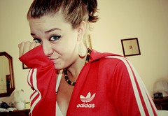 Red (VioletHill-) Tags: from old red italy love me girl smile look smiling photography photo florence necklace eyes italian italia like follow photograph tuscany ita firenze adidas toscana comment ragazza italiana