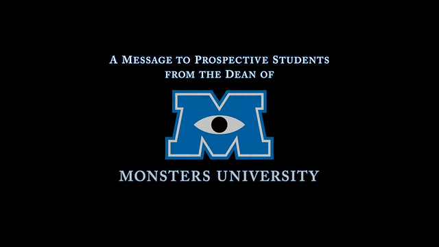 【怪獸大學】來自校長的訊息~ 看了有夠想入學的啦!!!