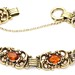1013. Elegant Retro Gold and Citrine Bracelet
