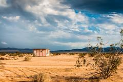 Desert Shack (Sky Noir) Tags: california ca usa clouds landscape photography solitude desert decay mojave remote lonely homestead shack jackrabbit wondervalley skynoir