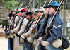 single file formation (Sky Noir) Tags: america photography virginia living war south unitedstatesofamerica union north headquarters rifles richmond confederate civil american guns uniforms states reenactment confederacy reenactors rva battles csa reenacting historians skynoir