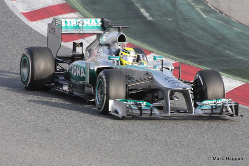 Nico Rosberg in his Mercedes at Formula One Winter Testing, 3rd March 2013