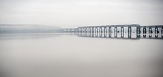 Melancholy Morn  - Tay Rail Bridge - Dundee Scotland (Magdalen Green Photography) Tags: misty scotland moody riverside dundee gothic mysterious haunting tayside tayrailbridge scottishbridges iaingordon dundeewestend magdalengreenphotography melancholymorn