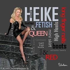 HEIKE_avatar (piloukam) Tags: black reflection water girl lady fetish shoes noir highheels barbie gimp heels spike compositing lany fekete hautstalons heikefetishqueen