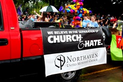 church and hate (Kelsey Brooke) Tags: gay church dallas pride tolerance 2012 samesex dallastx pride2012 str8against88