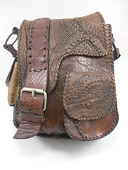 "1970s Vintage Tooled Leather Western Saddle Bag • <a style=""font-size:0.8em;"" href=""http://www.flickr.com/photos/92035948@N03/8549597838/"" target=""_blank"">View on Flickr</a>"