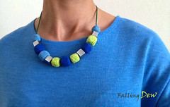 Crocheted Nekclace Summer fashion (FallingDew) Tags: blue summer colour fashion crochet monaco session lime pallete 2013