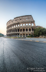 Rome in the Morning (Dylan Farrow) Tags: morning streets rome flickr colosseum pixelpost flickrpost canon5dmarkiii
