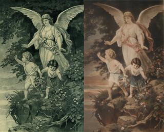 Schutzengel - The Guardian Angel (1886)  B. Plockhorst - Bernhard Plockhorst