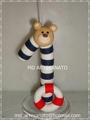Vela urso Marinheiro (Márcia Reis MD Artesanato) Tags: topo de bolo urso marinheiro topodebolo