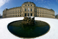 Wrzburger Residenz (mattrkeyworth) Tags: schnee winter snow germany deutschland sony fisheye baroque barock wrzburg fischauge balthasarneumann a99 wrzburgerresidenz sal16f28 hofgaren sonya99 sonyalphaa99 slta99 sonyslta99 alphaa99 sonyalphaslta99