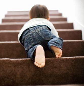 En las escaleras