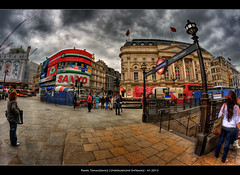 41.2013 - London's Tube (Pawel Tomaszewicz) Tags: city bridge sunset sky london tower lamp colors station night clouds stairs sunrise river underground landscape lights stair long exposure cityscape post metro tube case capitol scape tunel dri hdr hdri londyn rzeka chmury stolica tamiza stacja thamese