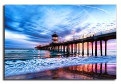 Tail End (Tony DeSantis Photography) Tags: ocean california sunset color reflection tower colors clouds pier pacific lifeguard socal cs nik huntingtonbeach hdr huntingtonbeachpier huntingtonbeachca huntingtonbeachsunset cs5 nikcolorefexpro topazadjust topazdenoise tonydesantisphotography