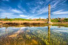 Temple of Artemis ,Turkey (Nejdet Duzen) Tags: trip travel cloud reflection history nature turkey temple pond trkiye ruin ephesus izmir seluk efes harabe bulut tapnak yansma turkei seyahat doa tarih artemistapna mygearandme